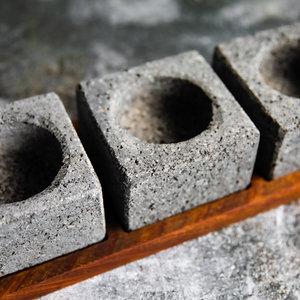 Artisinal Volcanic Stone Sauce Holder