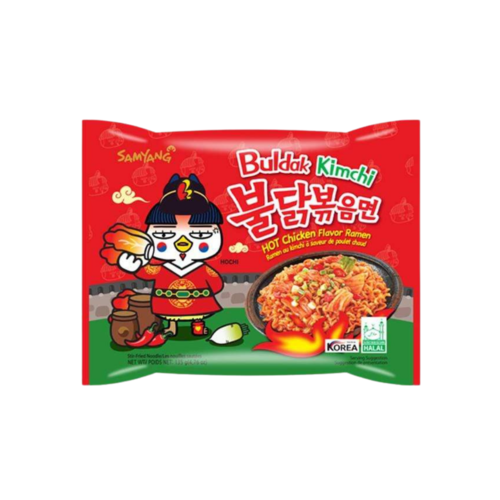 Samyang Buldak Kimchi Hot Chicken Flavor Ramen, 135g