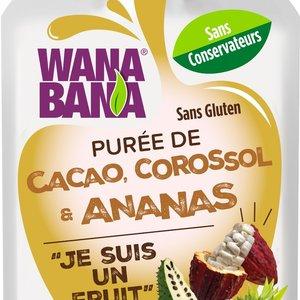 Wanabana Cocoa, Soursop & Pinepaple Fruit, 90g