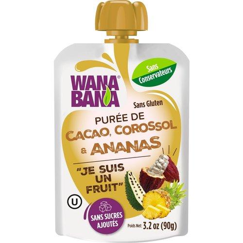 Wanabana Cacao, Zuurzak & Ananas Puree, 90g
