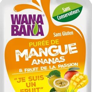 Wanabana Mango, Pineapple & Passionfruit Puree, 90g