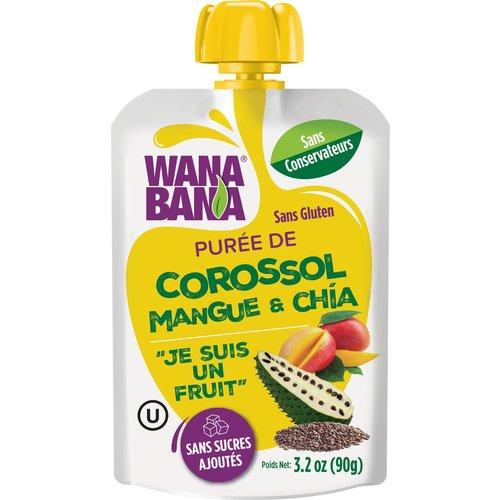 Wanabana Zuurzak, Mango & Chia Puree, 90g