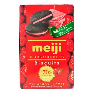 Meiji Meiji Rich Strawberry Biscuits, 99g