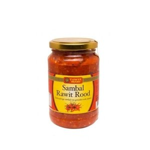 Flower Brand Sambal Rawit Rood, 375g