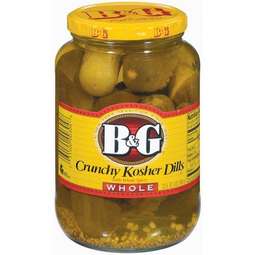 B&G B&G Crunchy Kosher Dills Whole, 946ml