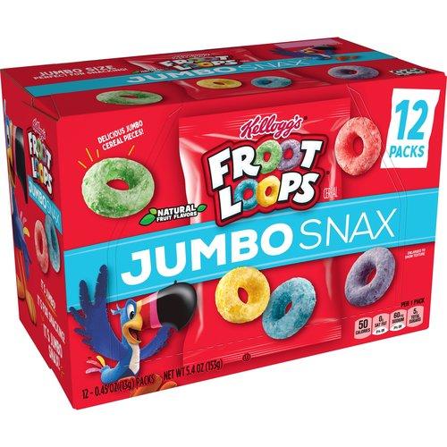 Kellogg's Froot Loops Jumbo Snax, 153g