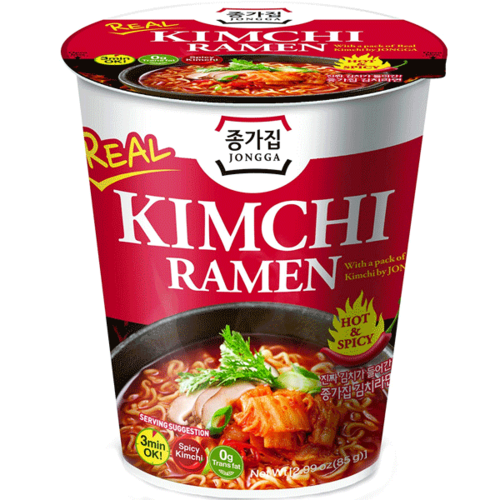 Kimchi Ramen Cup With Real kimchi, 85g