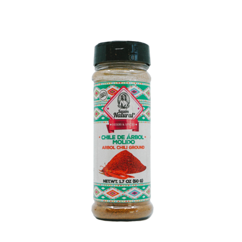 Sazon Natural Chile Arbol Molido, 50g