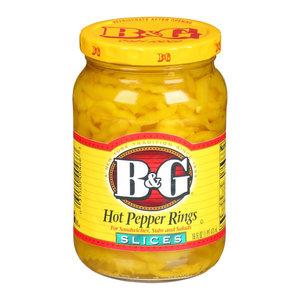 B&G Hot Pepper Rings, 473ml