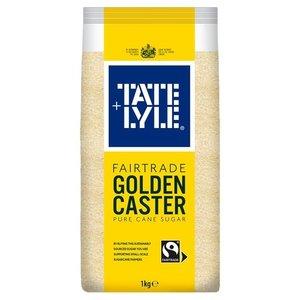 Tate & Lyle Fairtrade Golden Caster Cane Sugar, 1kg