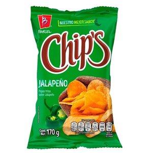 Barcel Chips Sabor Jalapeno, 170g THT 25-08-21