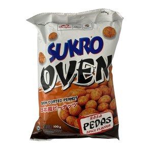 Dua Kelinci Sukro Spicy Oven Coated Peanuts, 100g