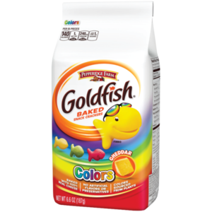 Pepperidge Farm Goldfish Crackers Cheddar Colors, 187g