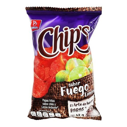 Barcel Chips Sabor Fuego Limon, 60g