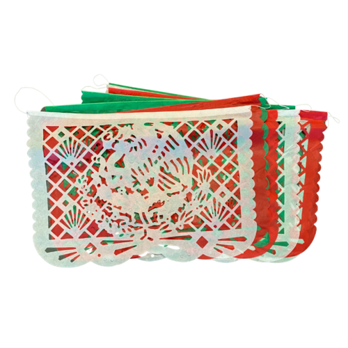 Mexican Tricolor Paper Decoration, 5meter