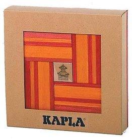 Kapla Kapla 40 rood en oranje plankjes met boek