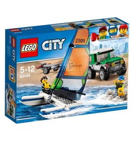 LEGO LEGO City 60149 - Pickup 4x4 met catamaran