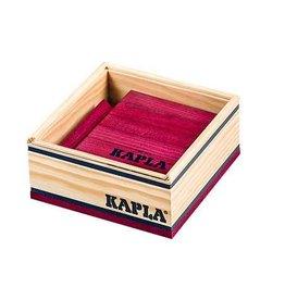 Kapla Kapla 40 wijnrood plankjes in kistje