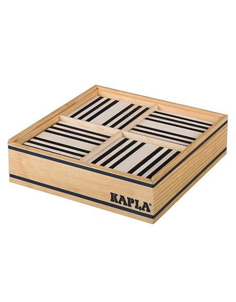 Kapla Kapla 100 zwart en witte plankjes in kist