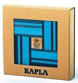 Kapla Kapla 40 Licht- en donkerblauwe plankjes met boek