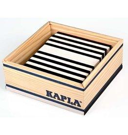 Kapla Kapla 42 zwarte en witte plankjes in kistje