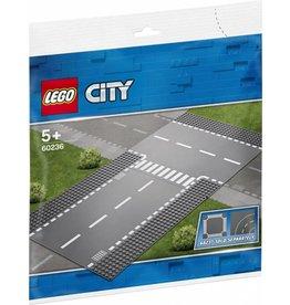 LEGO LEGO City 60236 - Rechte wegenplaten en T-kruising