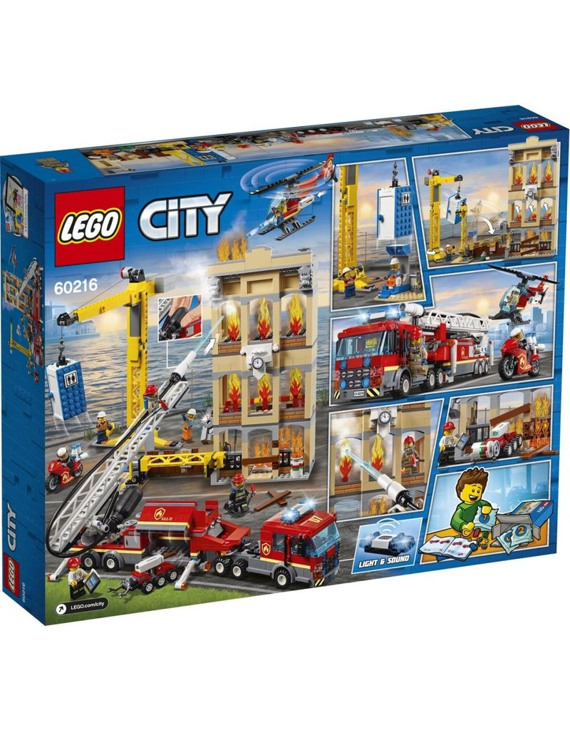 LEGO LEGO City 60216 - Brandweerkazerne in de Stad