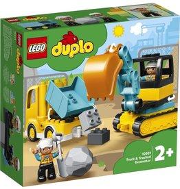 LEGO DUPLO  LEGO DUPLO 10931 - Truck en graafmachine met rupsbanden