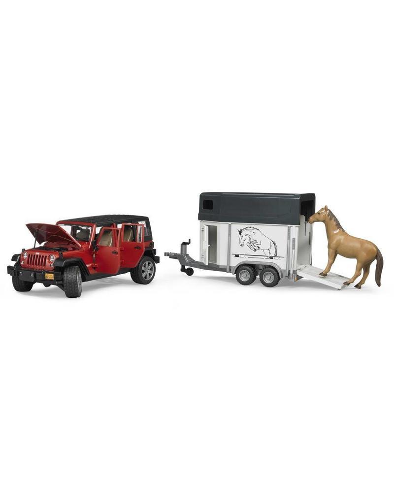 Bruder Bruder 2926 - Jeep Wrangler Unlimited Rubicon met paardentrailer