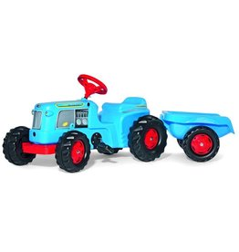Rolly Toys Rolly Toys 620012 - RollyKiddy Classic tractor blauw met aanhanger