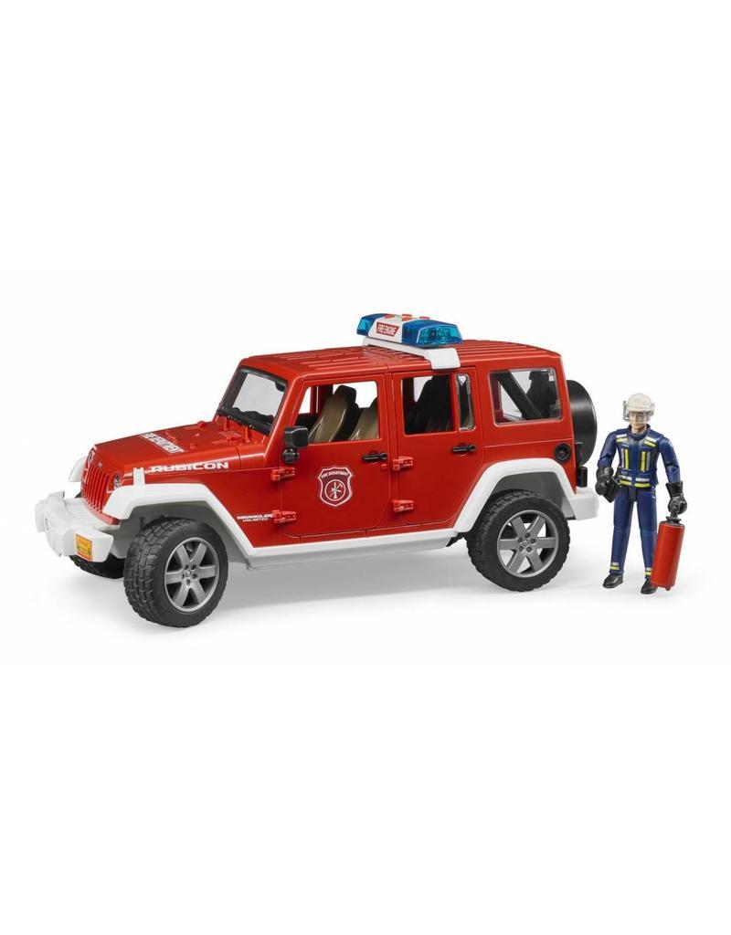 Bruder Bruder 2528 - Jeep Wrangler Unlimited Rubicon brandweerauto + brandweerman