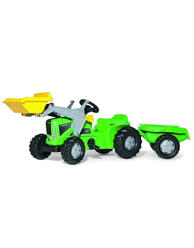 Rolly Toys Rolly Toys 630035 - RollyKiddy Futura met voorlader en aanhanger - groen
