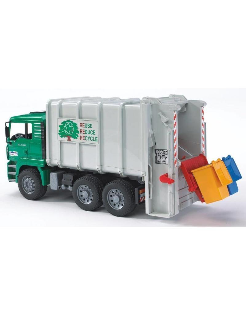 Bruder Bruder 2764 - MAN vuilnisauto achterlader groen