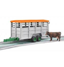 Bruder Bruder 2227 - Veetransportaanhager met 1 koe