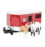 Britains Britains 42846 - Paardentrailer met paard+veulen 1:16