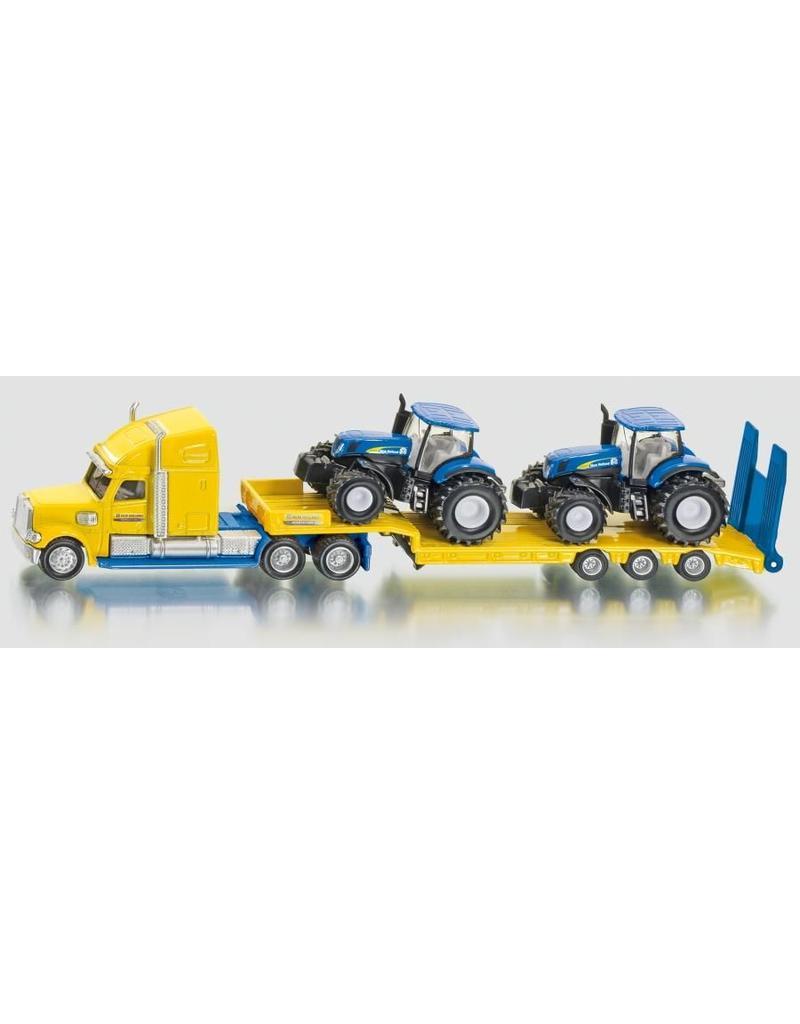 Siku Siku 1805 - Dieplader met New Holland tractors 1:87