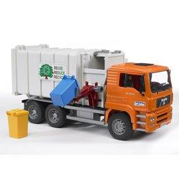 Bruder Bruder 2761 - MAN vuilnisauto zijlader (grijs)