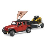 Bruder Bruder 2925 - Jeep Wrangler Unlimited Rubicon met aanhanger en Cat lader
