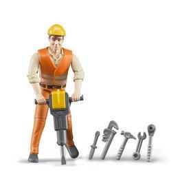 Bruder Bruder 60020 - Constructiewerker met accessoires
