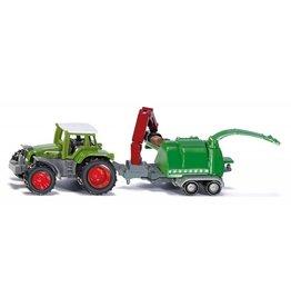 Siku Siku 1675 - Tractor met houtversnipperaar 1:87