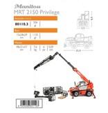 Ros Ros 80110.3 - Manitou MRT2150+ MANISCOPIC verreiker met diverse accessoire 1:32