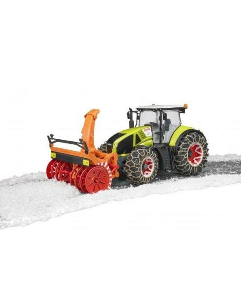 Bruder Bruder 3017 - Claas Axion met sneeuwblazer en sneeuwbanden