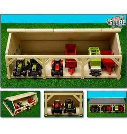Kids Globe Kids Globe 610491 - Tractorloods voor 6 tractoren (1:87 / Siku)