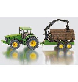 Siku Siku 1954 - John Deere tractor met bomenaanhanger 1:50