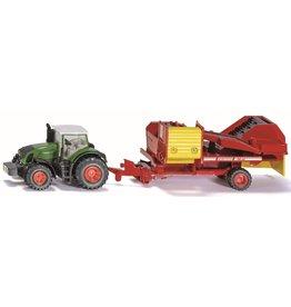 Siku Siku 1808 -  Fendt tractor met aardappelrooier 1:87
