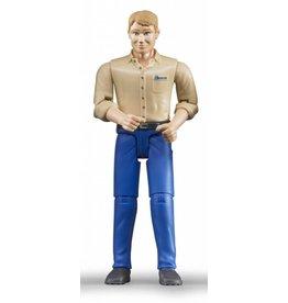 Bruder Bruder 60006 - Speelfiguur man: blank, blond, blauwe jeans