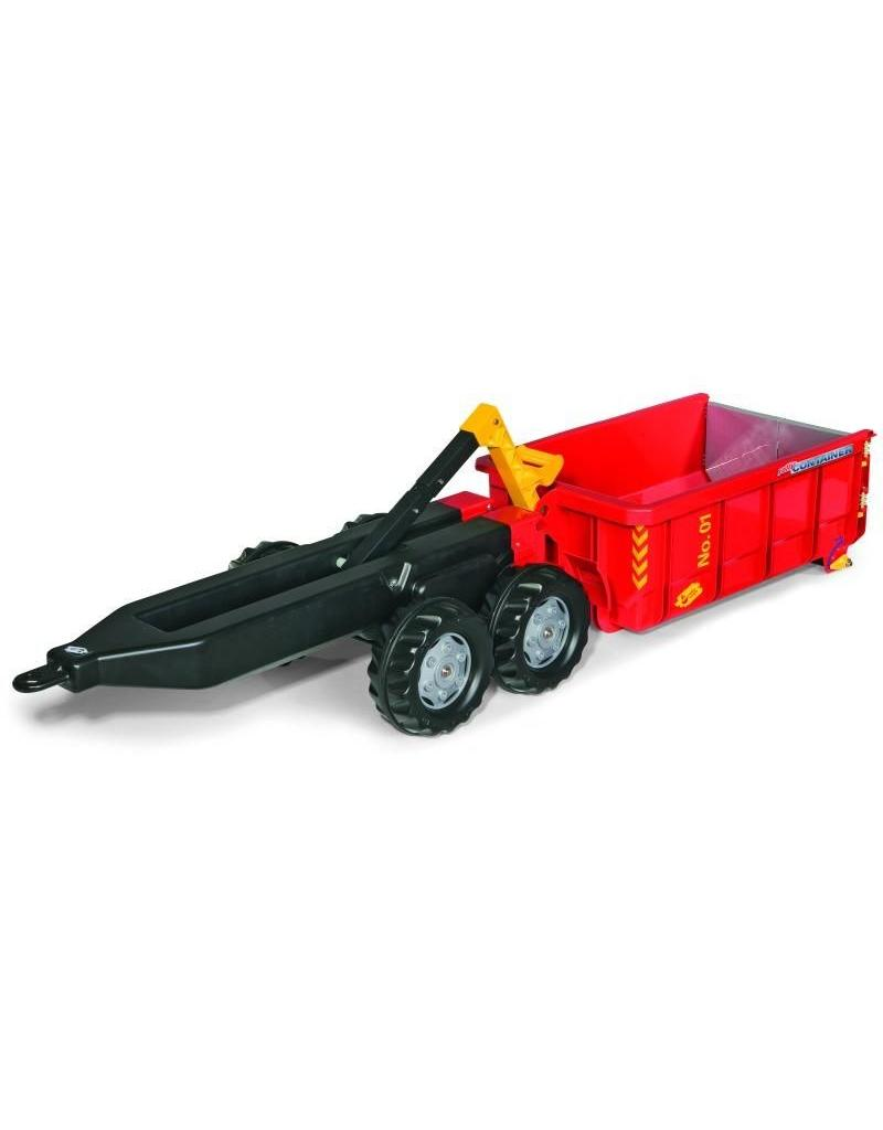 Rolly Toys Rolly Toys125801 -  Afzetcontainer aanhanger rood
