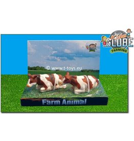 Kids Globe Kids Globe 571876 - Liggende koeien roodbont (1:32 / Siku)