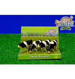 Kids Globe Kids Globe 571967 - 4 koeien staand zwartbont 1:50