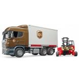 Bruder Bruder 3581 - Scania R-vrachtwagen UPS met heftruck